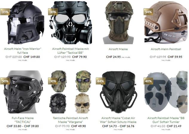 softair helm mit Maske kaufen Schweiz